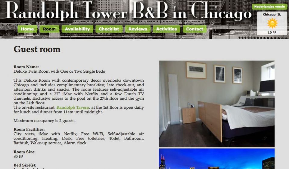 Randolph Tower B&B (password protected site for a B&B)